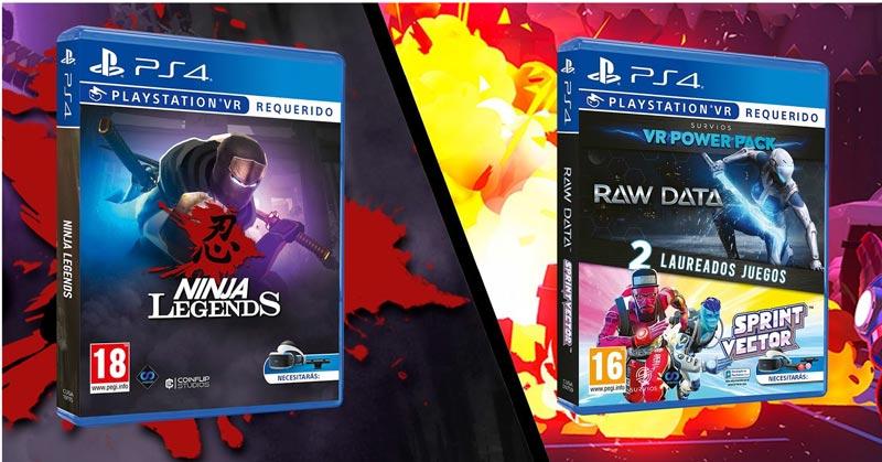 Ninja Legend y el combo Raw Data/Spin Vector, nuevos títulos para PSVR