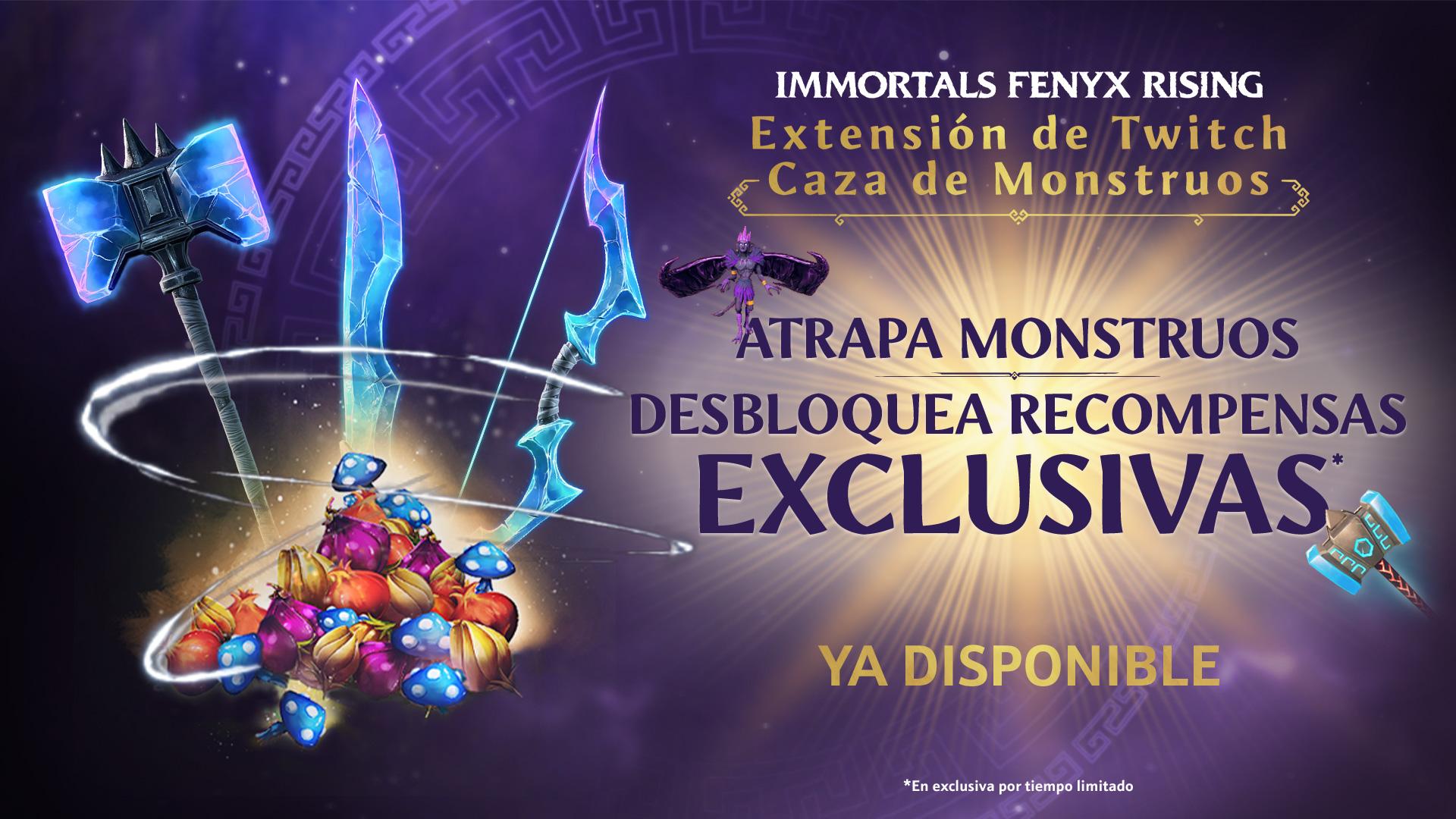 Monster Hunt, la nueva extensión de Twitch para Immortals Fenyx Rising.