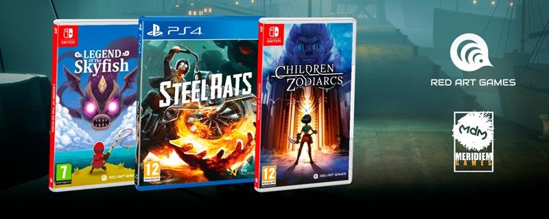Legend of Skyfish, Steel Rats y Children of Zodiarcs endrán su versión física