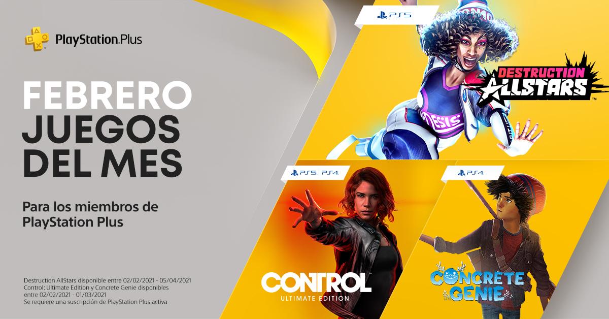 Juegos de febrero de Playstation Plus