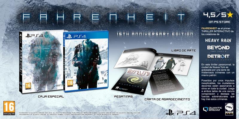 La edición física de Fahrenheit 15TH Anniversary Edition ya esta disponible