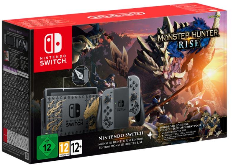 Nintendo saca una consola y un mando Pro con motivos de Monster Hunter Rise