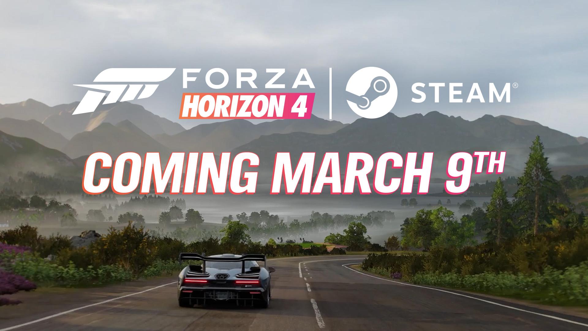 Forza Horizon 4 derrapará en Steam el próximo 9 de marzo