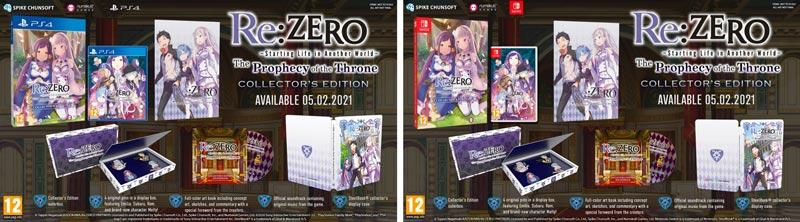 Las ediciones físicas de Re:Zero – The Prophecy Of The Throne ya están disponibles