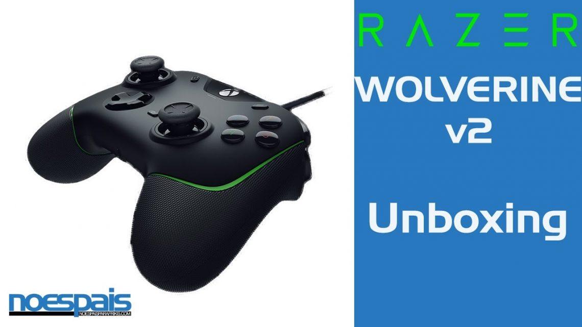 Unboxing game pad Razer Wolverine v2