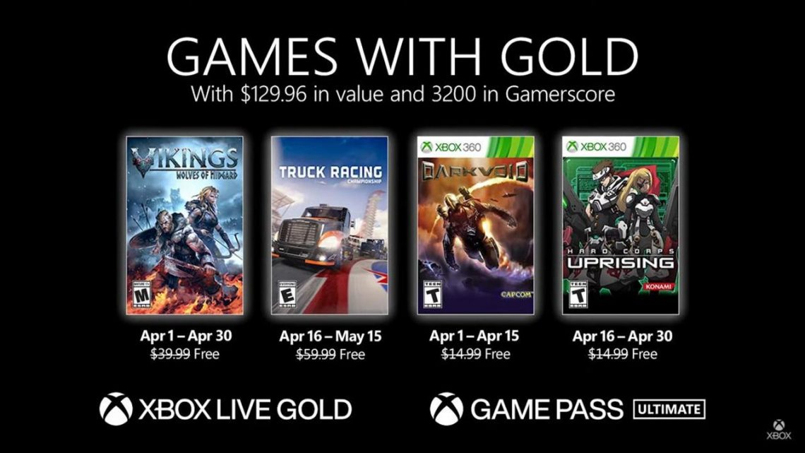 Microsoft acaba de anunciar los Games with Gold de abril de 2021