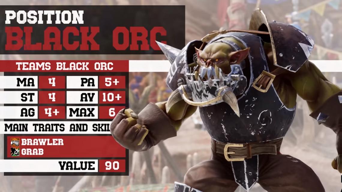 Nuevo tráiler de Blood Bowl III centrado en uno de los nuevos equipos, los brutales Orcos Negros