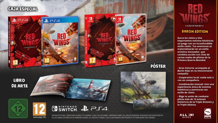 Red Wings: Aces of the Sky ya disponible