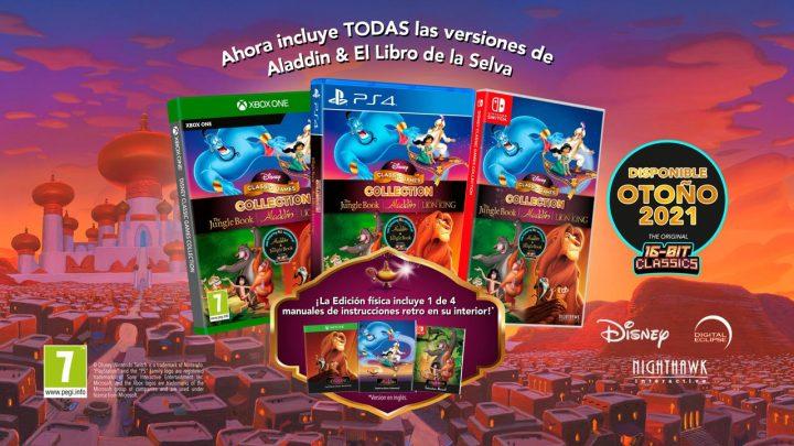 Aladdin, El Rey León y El Libro de la Selva vuelven este otoño con la colección Disney Classics Games